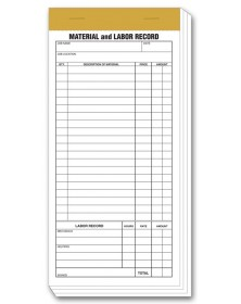 Material & Labor Records