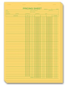 Pricing Estimate Pads