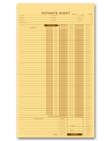 Personalized Estimate Pads