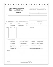 Carbonless Letter of Transmittal