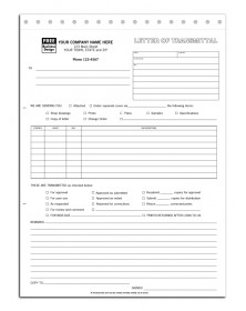Snapset Letter of Transmittal Forms