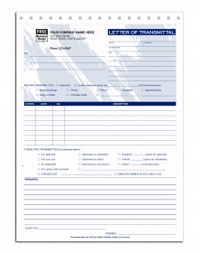 Colored Letter of Transmittal Forms