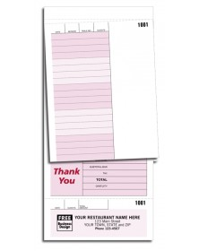 Preprinted Guest Checks Forms