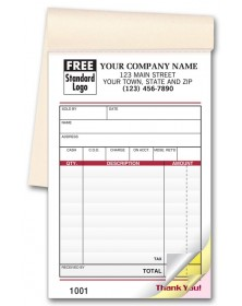 Carbonless Custom sales receipt books