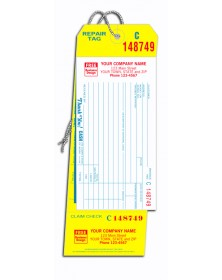 4-in-1 Carbon Copy Repair Tags with Claim Checks