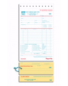 TV Repair Order forms