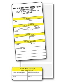 Padded Auto Service Labels
