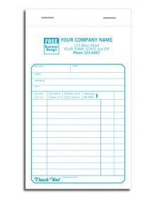 Sales Slips Pads with Carbon Copies