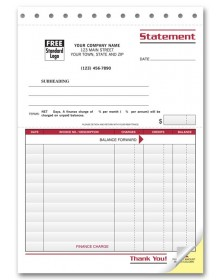 Statement Forms with Finance Charges