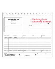 Packing List Form with Shipping Label