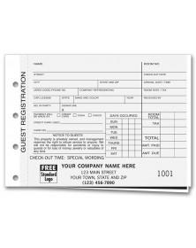 Carbon Copy Hotel Guest Registration Forms