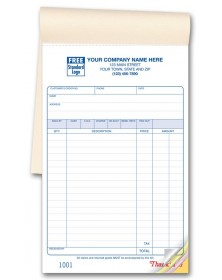Carbonless Sales Forms Booked