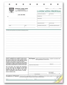 Professional Landscaping Proposals landscaping forms, landscape forms, lawn care forms