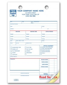 Customized Small Receipt Book Format 3-Part White 500 Forms CheckSimple Tow Truck//Towing Service Order Forms
