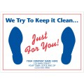 """6515, Auto Floor Mat, """"We Try To Keep it Clean..."""""""
