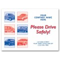 "6517, Auto Floor Mat, ""Please Drive Safely!"""