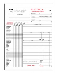 Custom Designed Electrical Forms