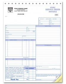 HVAC Business Service Order Forms