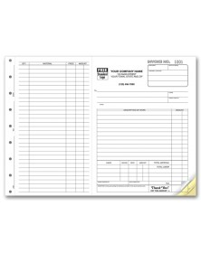 Horizontal Invoice Forms