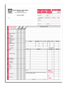 Protection System Work Invoice Forms
