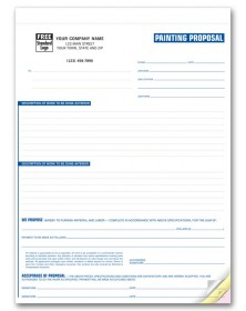 Professional Painting Proposal Forms painting forms, painting proposal forms, painting work order forms