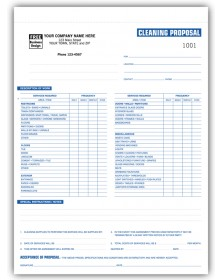 Detailed Cleaning Proposal Forms