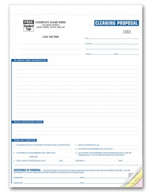 General Cleaning Proposal Forms