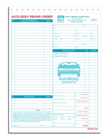 Auto Body Repair Order Forms