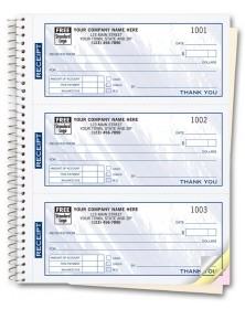 Personalized Receipt Books - Color Collection