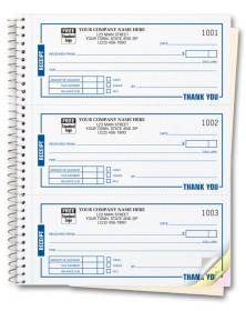 Spiral Bound Custom Receipt Book Printing customized receipt books, sales pads, sales receipt books