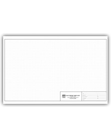 Graph Engineering Pads - 11 X 17 - 1/4 Inch graph pads, custom graph paper, graph paper pads
