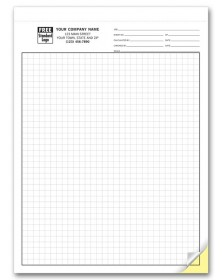 Carbonless Engineering Graph Paper - 1/4 Inch