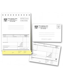 Special Order Forms with Postcards