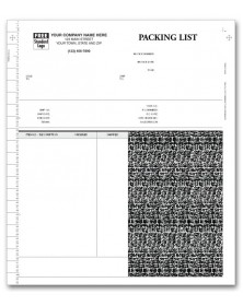 General Continuous Invoice with Packing List for Peachtree