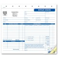 Auto Repair Order Forms with A Carbon Copy