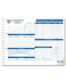Small Motorcycle Repair Order Forms