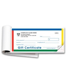 Personalized Gift Certificate Booklets