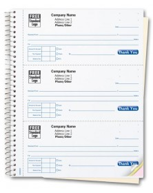 GEN0693, Cash Receipt Books, 3 To a Page, Desk-size
