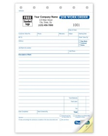Small Job Work Order Custom Forms