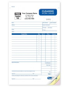 Carpet Cleaning Work Order Forms