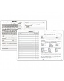 Four Page Dental Exam Record With Treatment Plan