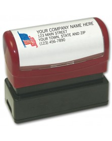 Name & Address with American Flag
