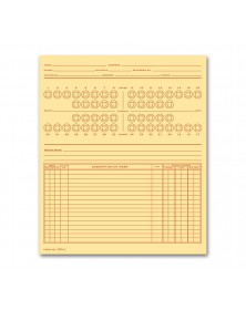 Dental Exam Record Numbered Teeth System C Folder Style