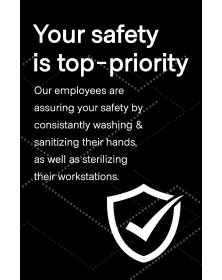 "Employee Safety Poster 11"" x 17"" Black Pack of 6"