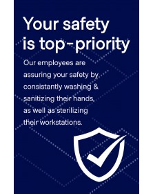 "Employee Safety Poster 11"" x 17"" Blue Pack of 6"