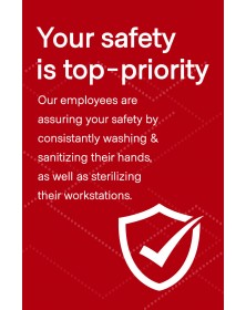 "Employee Safety Poster 11"" x 17"" Red Pack of 6"