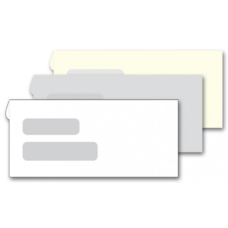 Confidential double window envelopes 91663 at print ez for Window envelopes
