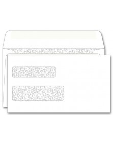 92567, Double Window Envelope Self Seal 6 3/16 x 3 9/16