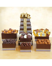 Sweet and Savory Snacks Gift Tower