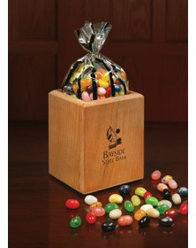 Pen & Pencil Cups with Hardwood Pen and Pencil Cup with Gourmet Jelly Beans